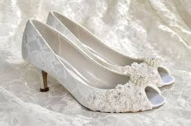 wedding shoes ideas pearl open toes lace low heel wide width - Wide Width Wedding Shoes
