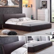 Schlafzimmer Braunes Bett I Flair Designer Polsterbett Bett Monaco 140cm X 200cm Braun
