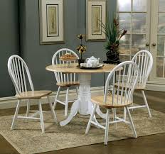 round drop leaf table and 4 chairs coaster fine furniture 4241 4129 damen round pedestal drop leaf