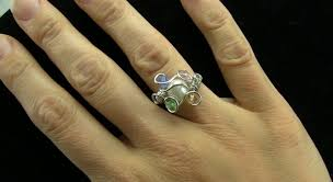 mothers rings with birthstones birthstone s ring wire wrap tutorial