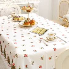 party table covers new year home kitchen dining table decorations christmas