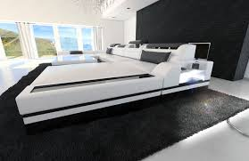 Big Sofa by Big Sectional Sofa Monza U Shaped With Led Lights White Black Ebay