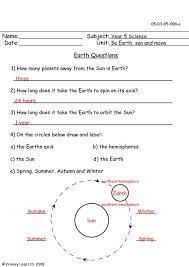 primaryleap co uk earth worksheet
