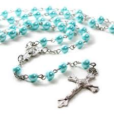 pearl rosary blue pearl imitation pearl rosary buy online rosary buy