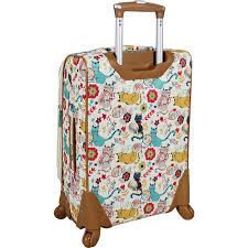 lilly bloom bloom 20 exp spinner luggage 2 colors softside carry on new