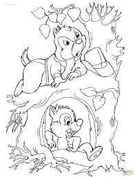 and dale coloring pages
