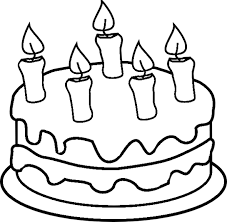 Birthday Cake Coloring Pages For Kids Coloringstar Birthday Cake Coloring Pages