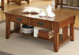 coffee table in brown oak by coaster w options