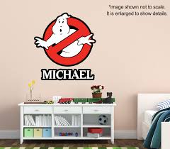 ghostbusters name custom vinyl wall decal kids room decor
