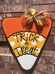halloween door hanger candy corn door hanger fall door