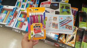 staples price match deal ideas savings on bic pens elmer s