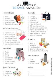 ultimate packing list u0026 travel checklist packing essentials