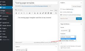 how to create a custom page template in wordpress 4 x monsterpost