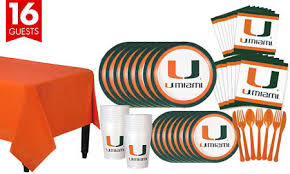 party supplies miami miami hurricanes party supplies party city