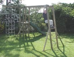 monkey bars wooden climbing frame uk action tramps