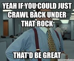 The Rock Meme Car - if you could just crawl back under that rock