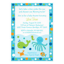 under the sea baby shower invitations wblqual com