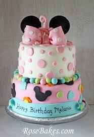 minnie mouse birthday cake behance