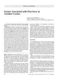 factors associated with pilot error in aviation crashes pdf