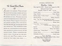 Funeral Assistance Programs Obituary Examples