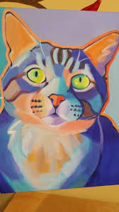 original high quality print from painting cats of color u2013 cat