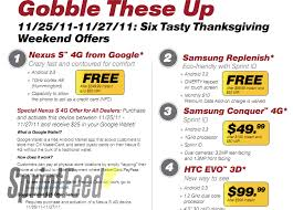 sprint holding black friday frenzy on thanksgiving weekend
