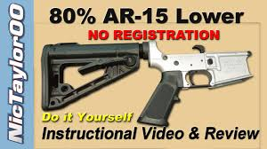 assault weapon kit the 80 ar 15 lower do it yourself