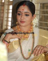 gold and jewellery designs kavya madhavan in traditional