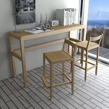 high bar table and chairs good looking contemporary high bar table wooden rectangular saki set
