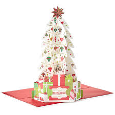 pop up christmas cards decorated tree pop up christmas card greeting cards hallmark