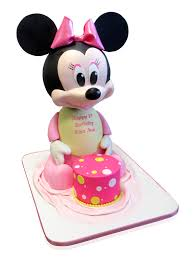 minnie mouse 1st birthday 3d minnie mouse 1st birthday cake cmny cakes