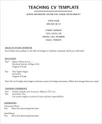 Examples Of Resume For Teachers by 8 Teaching Curriculum Vitae Free Sample Example Format