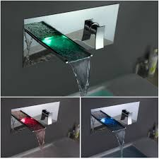 led faucet wall mounted bathroom wall led waterfall faucet led