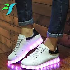 ladies light up shoes mixed color led light up shoes women platform led luminous ladies