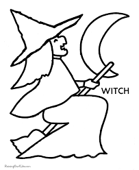 preschool halloween coloring pages witch 002