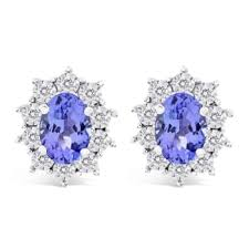 diamond ear studs lustro lustro tanzanite and diamond ear studs bluewater 450 00