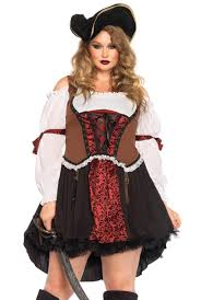 halloween costumes for women pirate plus size pirate wench costume ruthless pirate plus size costume