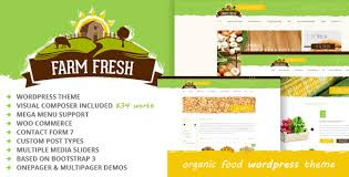 theme wordpress agriculture fresh food templates from themeforest