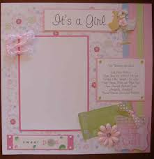 baby girl scrapbook album 20 premade baby girl scrapbook pages shophandmade