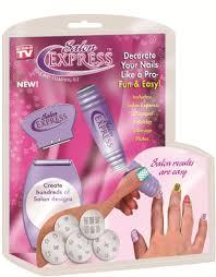 buy salon express nail polish art decoration stamping design kit