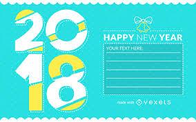 new year greetings card 2018 new year greeting card creator editable design