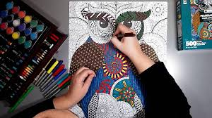 500 piece coloring puzzle mandalas owl youtube