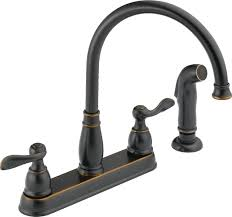 belle foret 2 handle bridge kitchen faucet with side sprayer and