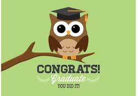 graduation owl free graduation owl vector card free vector stock