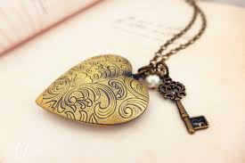 long love heart necklace images Handmade heart locket vintage necklace discovered jpg