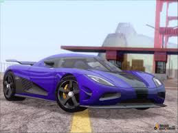 light blue koenigsegg koenigsegg agera r racer for gta san andreas