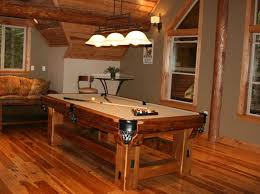 reclaimed wood game table reclaimed barn wood is handcrafted into beautiful rustic pool tables