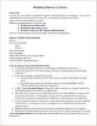 wedding planner contracts wedding planner contract sle template document templates