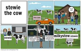 stewie the cow storyboard by horsenacho