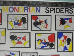 mrs t u0027s first grade class mondrian spider art